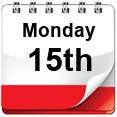 Monday 15th