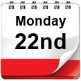Monday 22nd